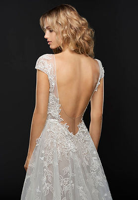 Hayley Paige Vaughn gown back view