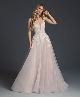 Blush by Hayley Paige Fiona gown front view