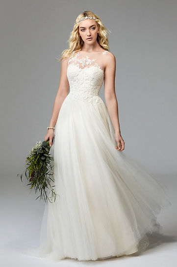 Willowby by Watters wedding gown style Arie Front