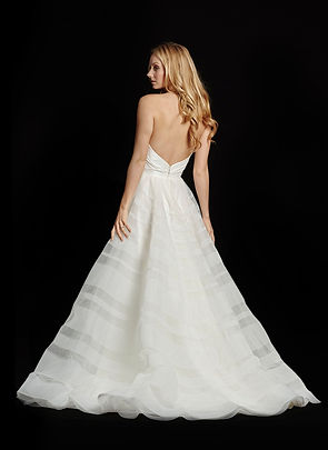 Hayley Paige Lily gown back view