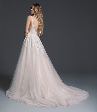 Blush by Hayley Paige Fiona gown back view