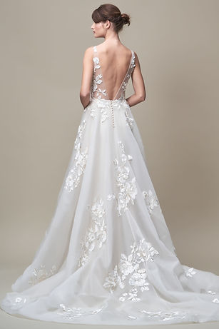 Jenny Yoo Jackie gown back view