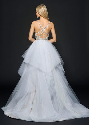 Hayley Paige Arlo gown back view