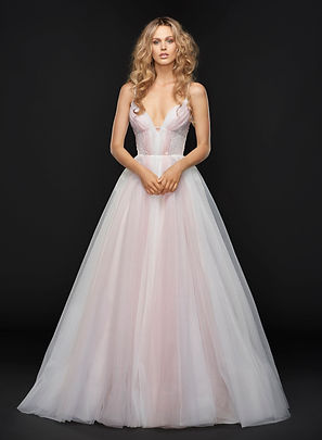 Hayley Paige Hawthorne gown front view