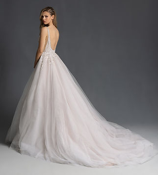 Hayley Paige Lauren Gown back view