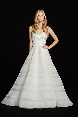 Hayley Paige Lily gown front view