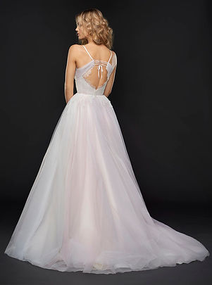 Hayley Paige Hawthorne gown back view