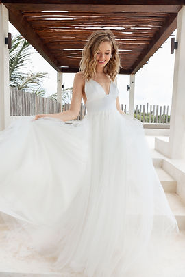 Scout by Sarah Seven bridal gown style Bliss front view