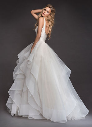 Hayley Paige Bowie gown back view