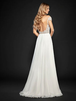 Hayley Paige Celine gown back view