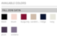 Hayley Paige Occasions Swatch colors Satin fabric
