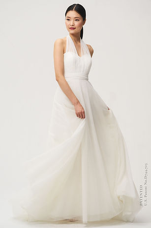 Jenny Yoo Grace Gown front view with straps