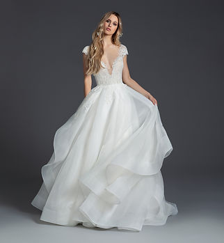 Blush by Hayley Paige Willow gown front view