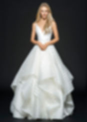 Hayley Paige Decklyn gown front view