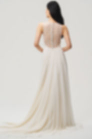 Jenny Yoo Fallon gown back view