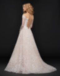 Hayley Paige Stevie gown back view