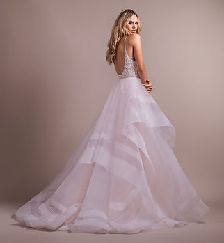 Hayley Paige Tulua gown back view