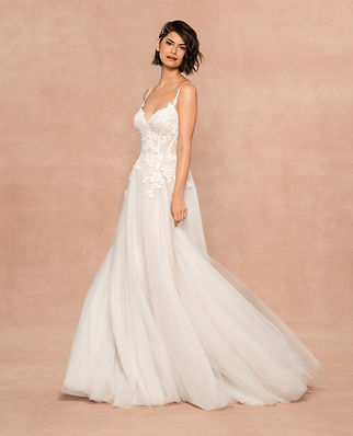 Blush by Hayley Paige bridal gown style Isla front view