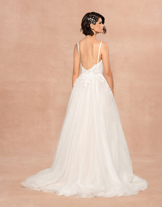 Blush by Hayley Paige bridal gown style Isla back view
