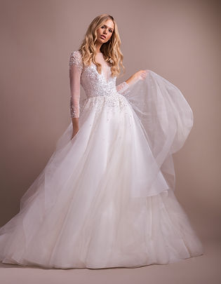Hayley Paige effie gown front view