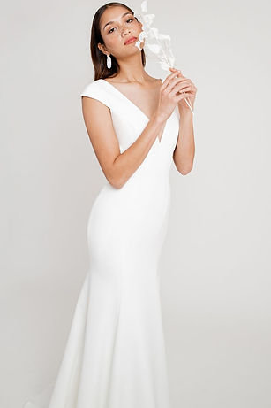 Jenny Yoo bridal gown style Gretchen crepe gown