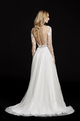 Hayley Paige Remmington gown back view