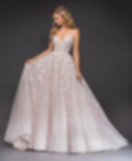 Hayley Paige Arden gown front view