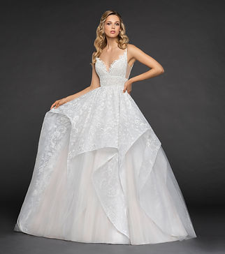 Hayley Paige Markle gown front view