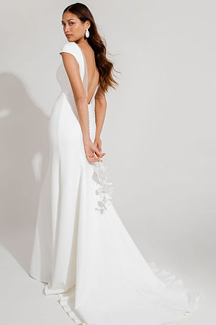 Jenny Yoo bridal gown style gretchen crepe gown low back