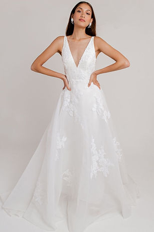 Jenny Yoo Bridal Gown Style Miranda floral lace flowy gown