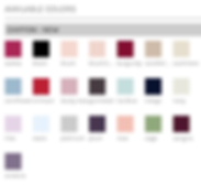 Hayley Paige Occasions color swatch chiffon fabric