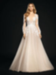 Hayley Paige Winnie gown front view