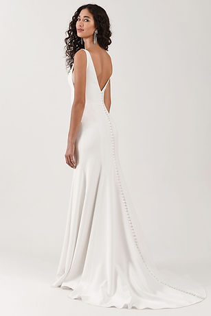 Jenny Yoo Neve gown back view