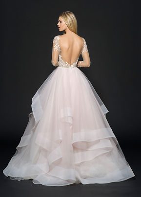 Hayley Paige Lorelei gown back view