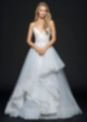 Hayley Paige Bijou gown front view