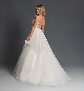 Blush by Hayley Paige Nahla gown back view