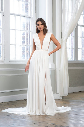 Theia Couture wedding gown style Agnetha Front