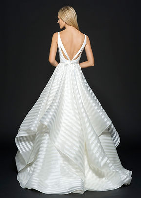 Hayley Paige Decklyn gown back view
