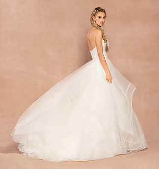 Hayley Paige wedding gown style loretta side view