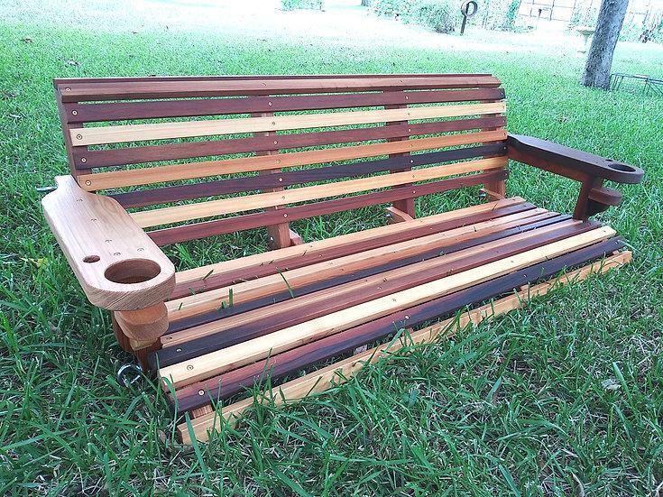 Classic Roll Back Cedar Porch Swings