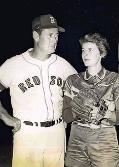 051 Joan Joyce Ted Williams Joan and Ted