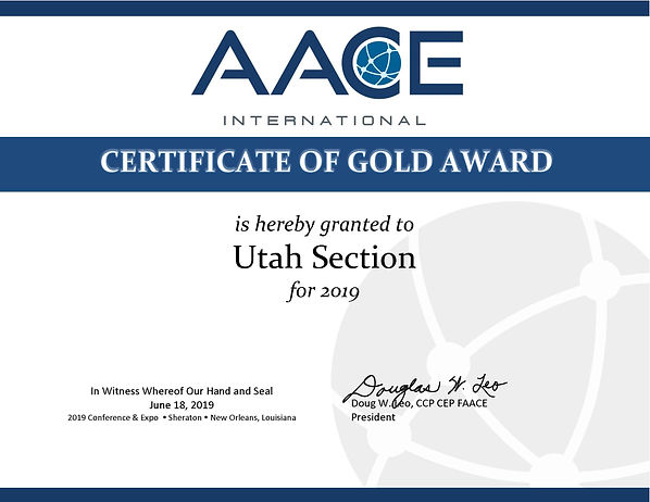 Utah 2019 Section Award Certificate.jpg