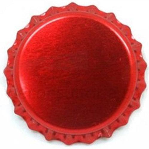 Tampinha Pry-Off - Vermelho Metálico  100 Unid