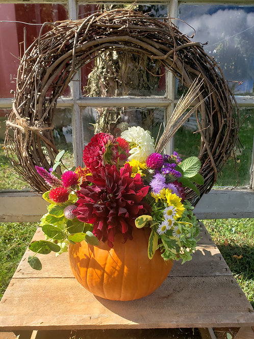 The Reisters Daughter ~ Small Pumpkin Arrangement