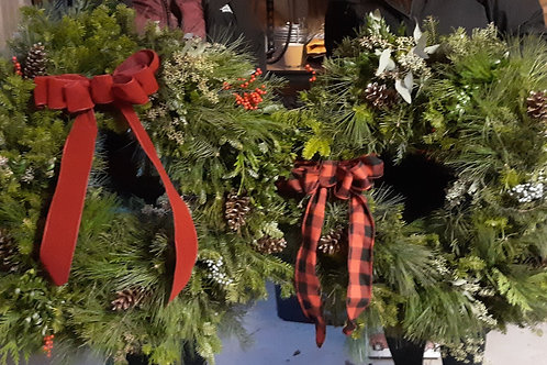 Hand-Tied Christmas Wreath Workshop