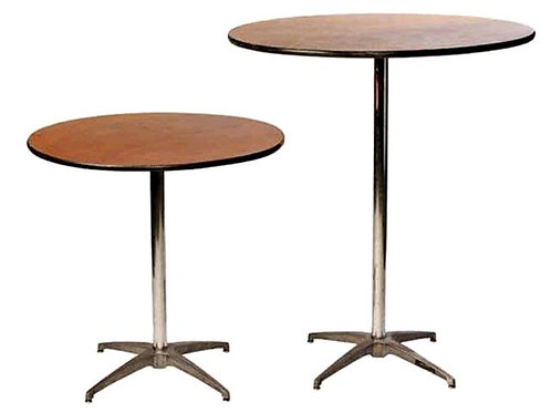 """Round 30"""" Cocktail Table 30"""" or 43"""" High"""