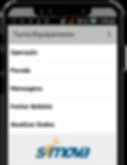 Metaded um celular com app simova