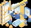 Icone vetor isometrico servico simova persnalizado