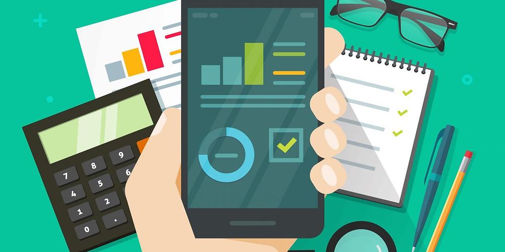 Smartphone substituindo todas as atividades com papel