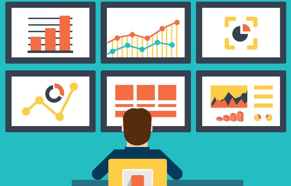 apontamento eletrônico leva as informação ao dashboard com todas os gráficos. imagem vetor